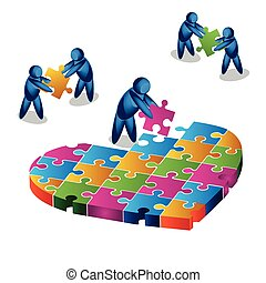 Love puzzle. illustration in vector format