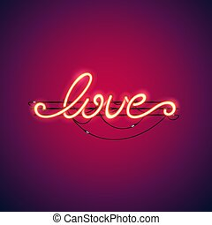 Love Red Neon Sign