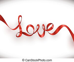 Love Red Ribbon Valentines Day Card