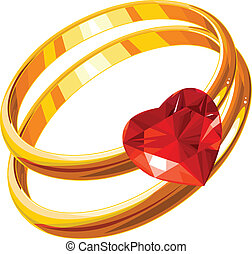 Love rings - Love  rings on a white background