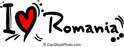 Love Romania - Creative design of love romania