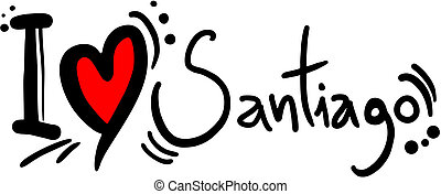 Love Santiago - Creative design of love santiago