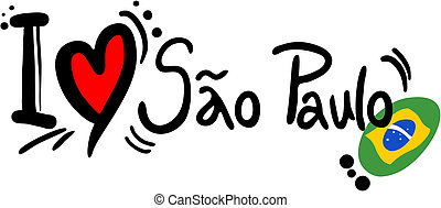 Creative design of love sao paulo