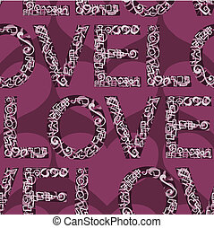 Love Seamless background