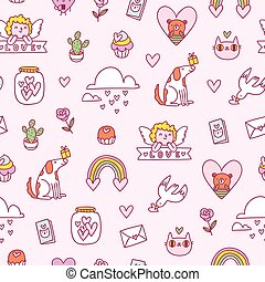 Love seamless pattern