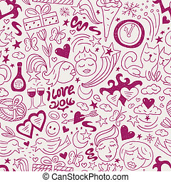 love - seamless vector pattern