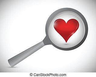 love search concept illustration design