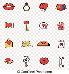 Love set icons