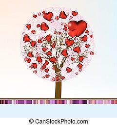 Love shape valentine's card. EPS 8