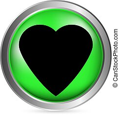 Love sign button