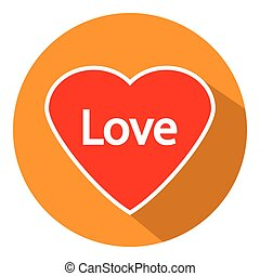 Love sign button.