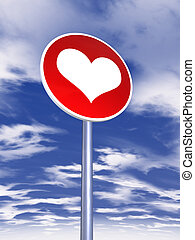 love sign for traffic