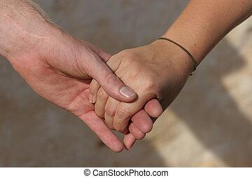 sign of trust: hands