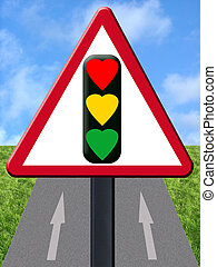 Love signal on one way road