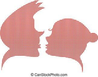 Love silhouette simbol