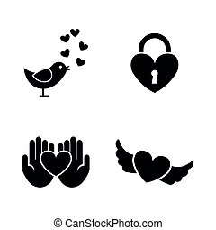 Love. Simple Related Vector Icons