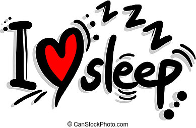 Love sleep - Creative desig of love sleep