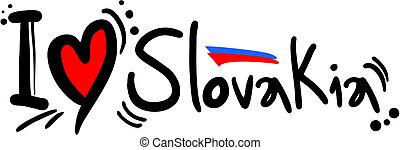 Love Slovakia - Creative design of love slovakia