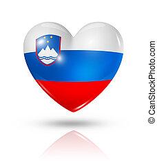 Love Slovenia, heart flag icon