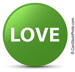 Love soft green round button