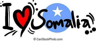 Creative design of love somalia