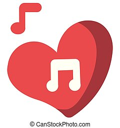 Love Song flat illustration