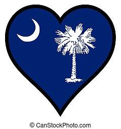 Love South Carolina - South Carolina state flag within a ...