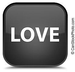 Love special black square button