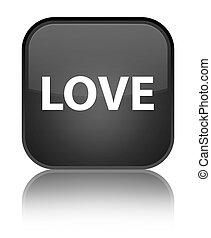 Love special black square button