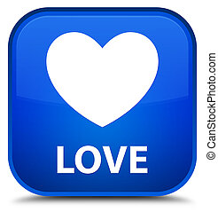 Love special blue square button