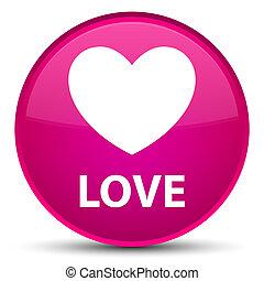 Love special pink round button
