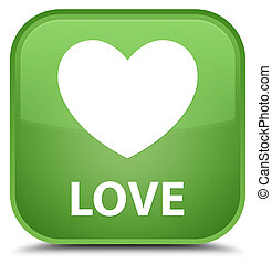 Love special soft green square button