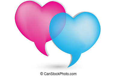 Love speech bubbles logo