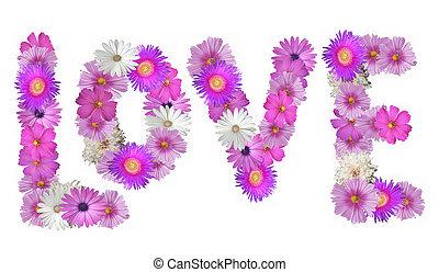 Love Spelled in Flowers