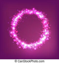 love star glowing magic circle