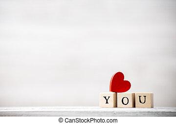 Love. - Love message written in wooden blocks.
