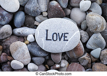 Stone with the word Love