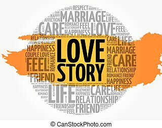 Love Story circle word cloud