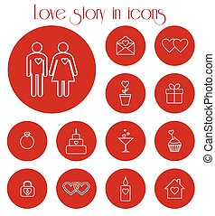 Love story in icons