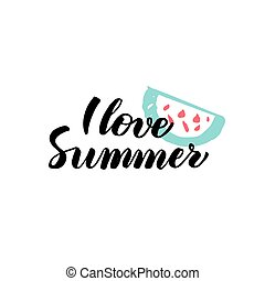 Love Summer Calligraphy