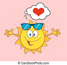 Love Sun With A Heart