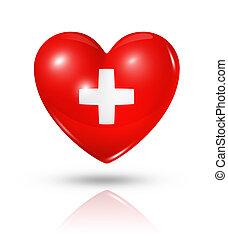 Love Switzerland, heart flag icon