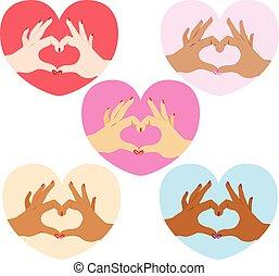 Love Symbol Hands