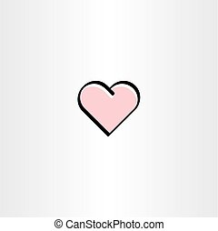 love symbol icon heart vector element sign