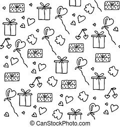 Love symbols Seamless pattern. Happy Valentine's day.