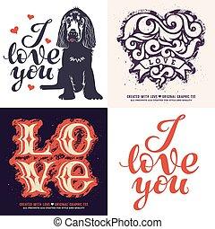 Love t-shirt set 001.eps
