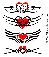 love tattoo set vector