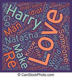 Love text background wordcloud concept