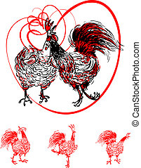 Love the Cock and Hen, postcard - Love the Cock and Hen...
