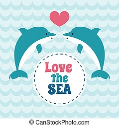 Love the sea summer card with pair of dolphins. - Love the...